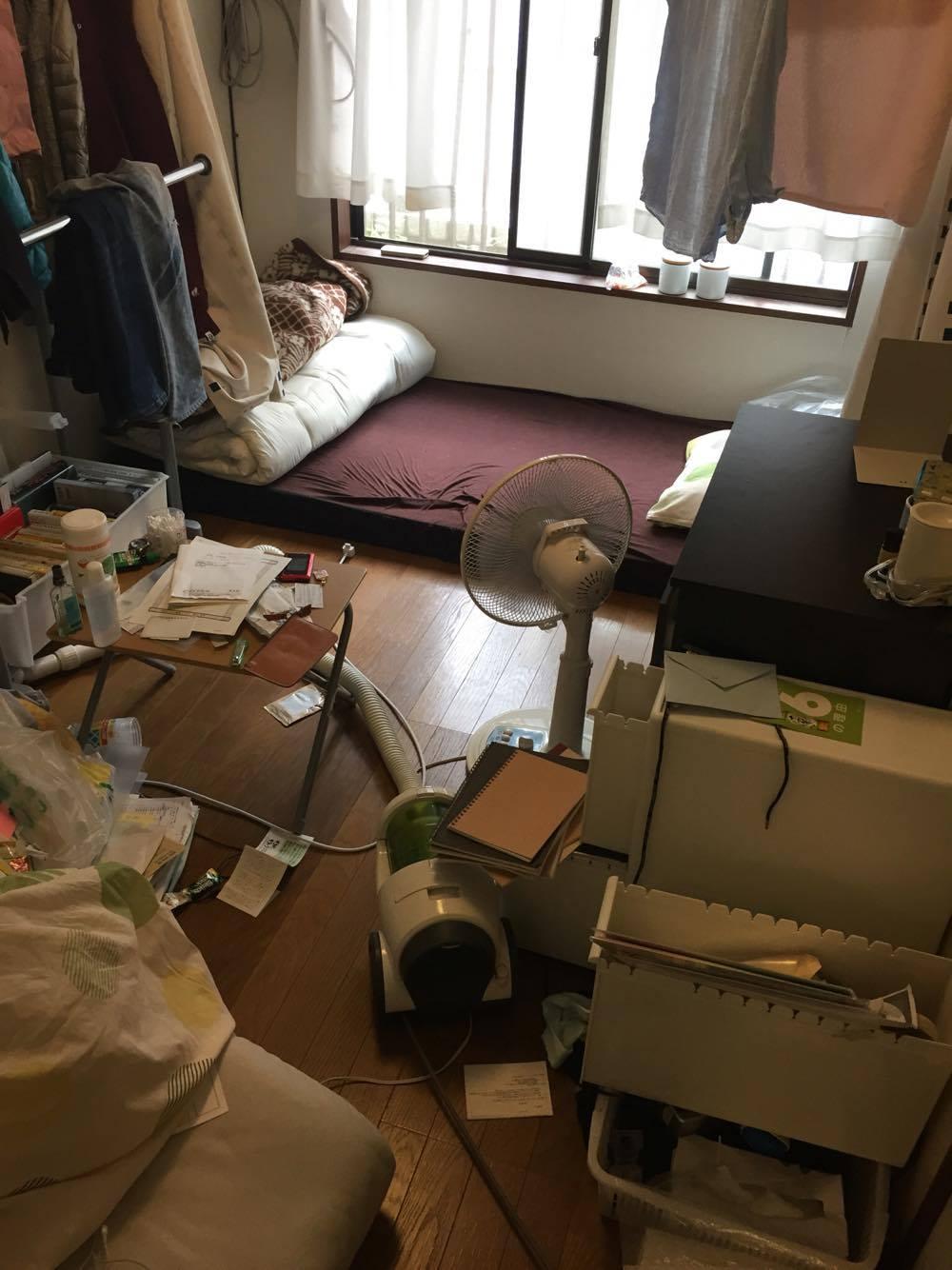 散らかし放題の部屋after