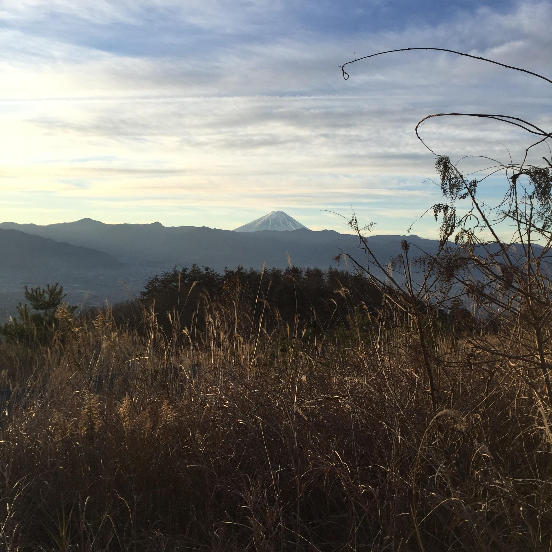 温泉から見た富士山